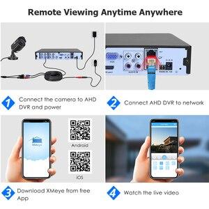 Image 3 - Hiseeu 5MP 1080P كاميرا AHD حافظة معدنية في الهواء الطلق مقاوم للماء رصاصة كاميرا تلفزيونات الدوائر المغلقة كاميرا مراقبة لنظام CCTV DVR الأمن