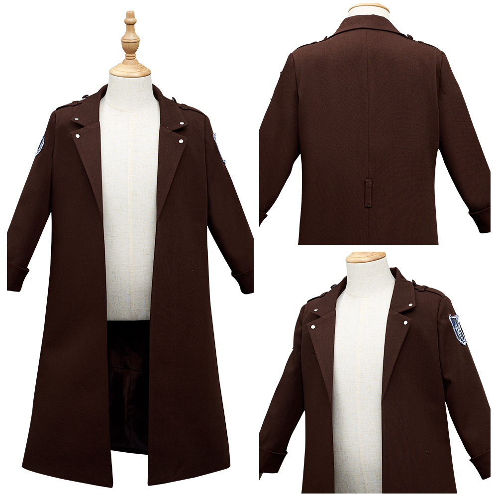 Attack on Titan Eren Levi Cosplay Costume AOT Shingeki No Kyojin Kids Children Coat Halloween Carnival Suit