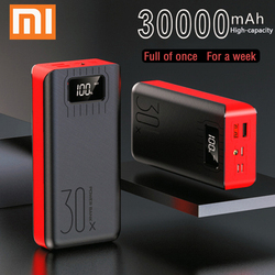 Banco de potência 30000 mah powerbank bateria externa portátil carregador rápido para todos os smartphones com carregador banco duplo usb à prova ddouble água