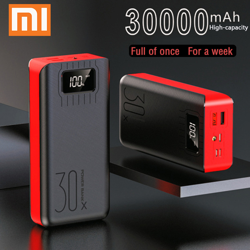 Power Bank 30000mAh Powerbank External Battery Portable Fast Charger  For All Smartphone With Charger Bank Double USB Waterproof