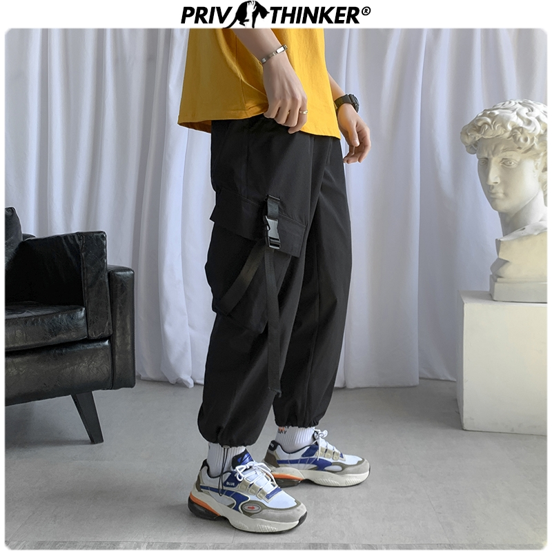 Privathinker Men Spring Casual 2020 Ankle-length Pants Mens Safari Style Hip Hop Joggers Male Korean Harem Pant Fashions Bottoms
