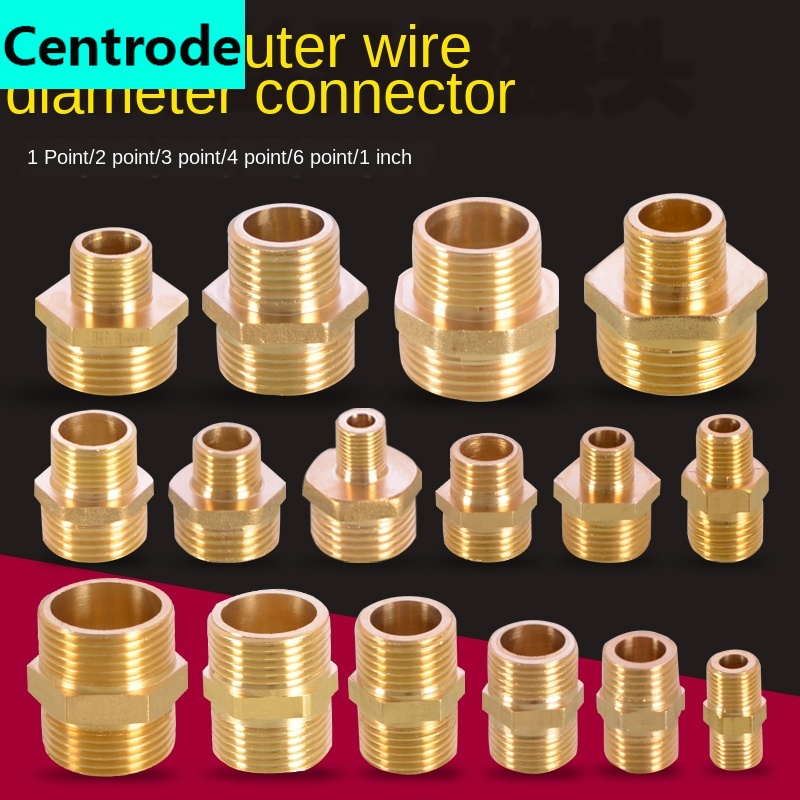 1/8 IN 1/4 IN 3/8 IN 1/2 IN 3/4IN 1 Inch Thread Outer Wire Teeth Adapter Reducer Double Outer Wire Directly