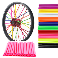 36Pcs/Pack Motorcycle Bike Wheel Cover Colorful Motocross Rims Skins Spoke Protector Bike Guard Wraps Kit Universal Decor 36pcs motorcycle bick wheel rim spoke skins covers wrap tubes decor