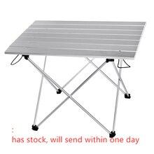 Liga de alumínio mesa portátil mobiliário ao ar livre dobrável dobrável acampamento caminhadas mesa viajar ao ar livre mesa de piquenique móveis