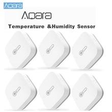 Умный датчик температуры и влажности Aqara, беспроводной пульт дистанционного управления ZigBee, Wi Fi, домашнее устройство