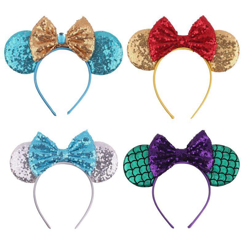 Kids Baby Girls Accessories Cartoon Animals Ear Bow Hairbands Toddler Girls Children Hairwear Baby Hairband