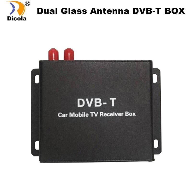 Récepteur TV de voiture DVB-T double Tuner haute vitesse Mpeg4 Tuner TV numérique de voiture pour voiture DVD Kit récepteur DVB-T Auto Mobile