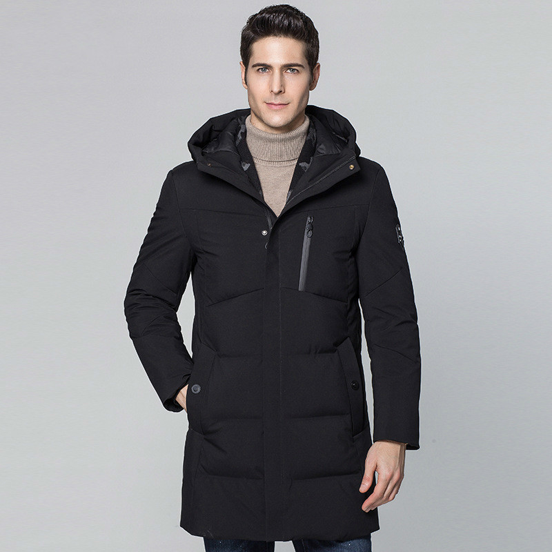 Long Winter 90% Duck Down Jacket Men Hooded Coat Scarf Warm Jackets Mens Clothing 2020 Parka Casaco Masculino KJ652