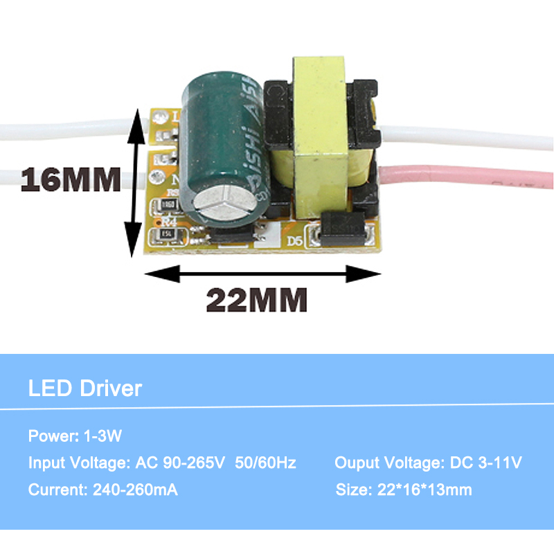 Led driver 1-36W Input AC90-265V Power Supply  Constant  Lighting Transformers for Leds lamp driver Led driver  for led lighting