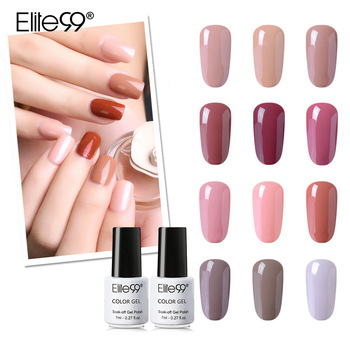 Elite99 7ml Nude Farbe Nagel Gel Polish Soak Off Gel Lack Lack Nail art Mancire Vernis Semi Permanant UV gel Nagellack