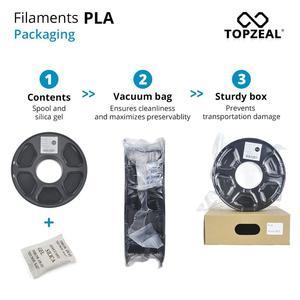 Image 5 - TOPZEAL 3D Printer PLA Filament 1.75mm Filament Dimensional Accuracy +/ 0.02mm 1KG 343M 2.2LBS 3D Printing Material for RepRap