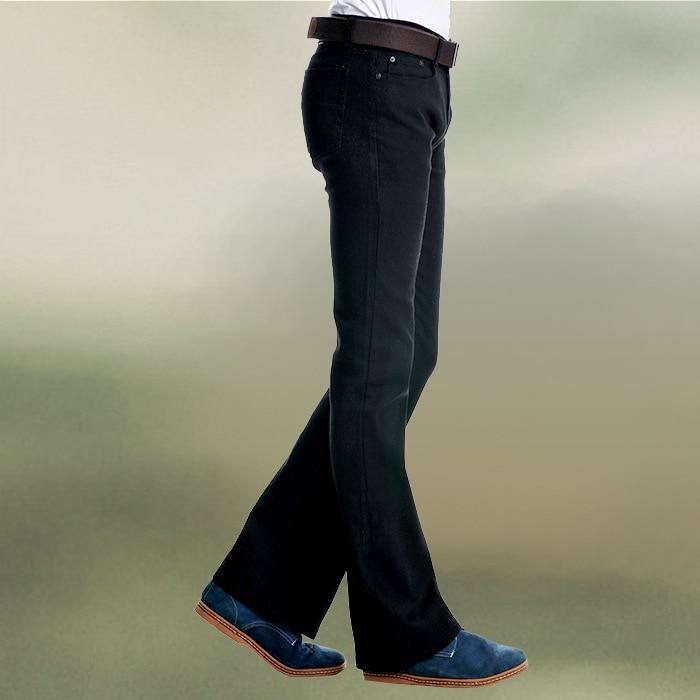 Plus Size Mens Black Bootcut Jeans Men Slim Fit Stretch Jeans For Men Flare Jeans Homme Hombre Long Boot Cut Denim Pants