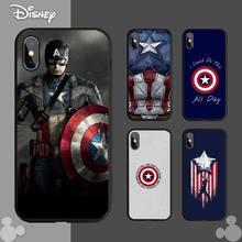 Superhero Captain America Phone Case For Iphone 12 11 PRO 6S 7 8 MAX X XS XR Mini PLUS Cover Shell Coque