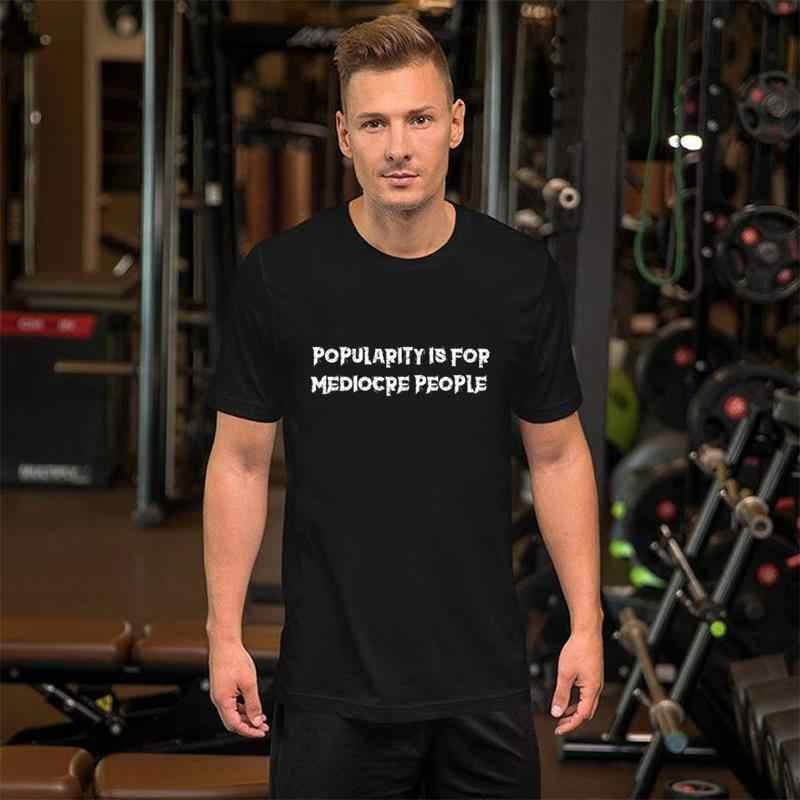 Engraçado popularidade é para pessoas medíocre punk rock emo tshirt 3xl 4xl 66xl formal backwoods harajuku camisetas femininas