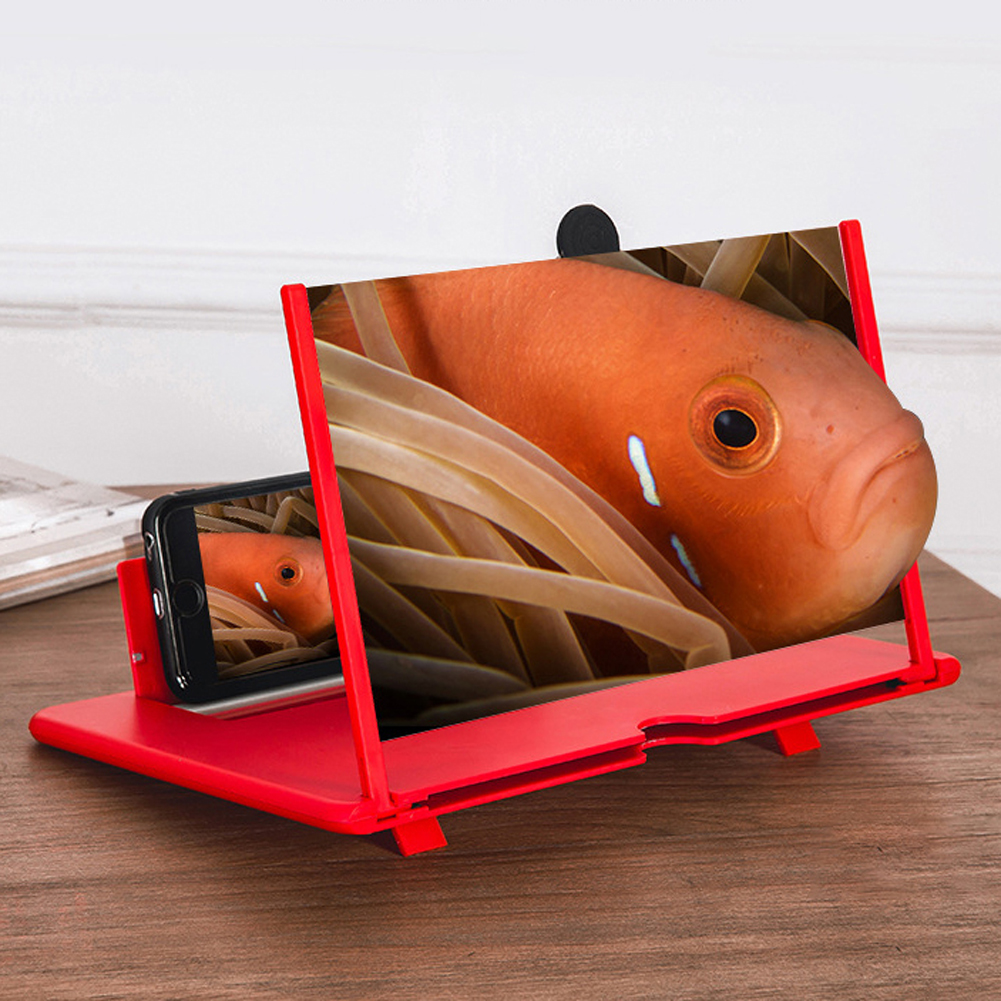 12 Inch Phone Holder 3D Phone Screen Magnifier Enlarged Eye Protection Movie Folding Adjustable Angle  HD Non Slip With Bracket