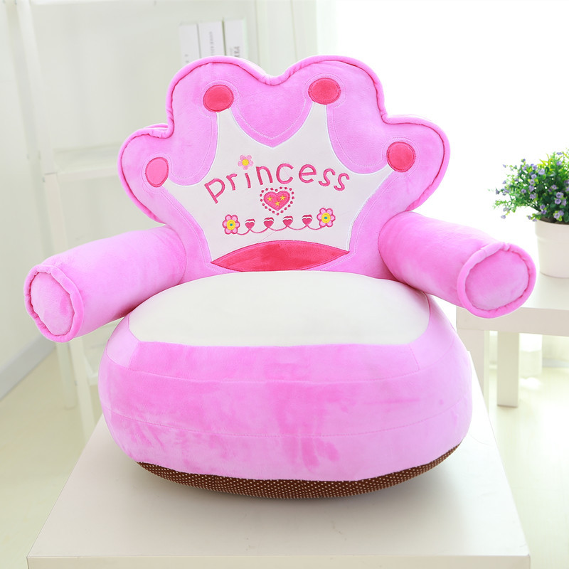 Creative Plush Toy Mini Crown Doraemon Kt Cat Cartoon Lazy Sofa Baby Furniture Kids Chair Baby Lounger