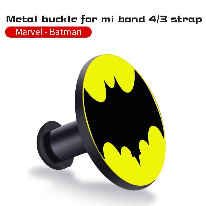 Для Xiaomi Mi Band 4/3 ремешок Металлическая пряжка силиконовый браслет аксессуары miband 3 браслет Miband 4 ремешок для часов М - Цвет: Batman