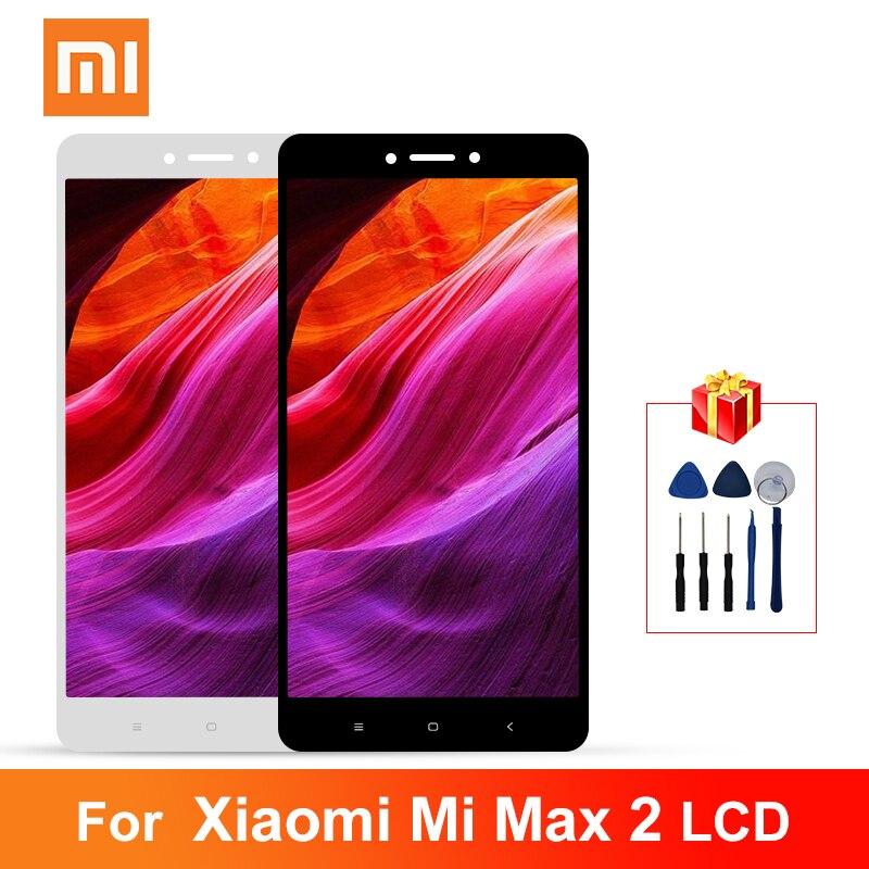 """6.44 """"für Xiaomi MAX 2 LCD Display Bildschirm Touch Digitizer Für Xiaomi MI MAX 2 Display 10 Touch Mit rahmen"""