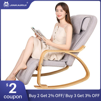 цена на Jinkairui Multifunctional Electric Home Massage Chair Neck Waist Kneading Heating Whole Body Massage Relax and Relieve Pain
