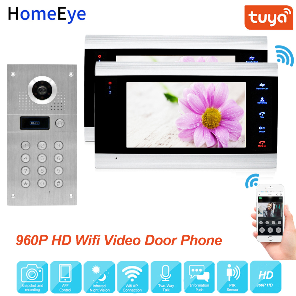 Tuya Smart App Remote Control WiFi IP Video Door Phone Video Intercom Access Control System Motion Detection Code Keypad RFID1-2