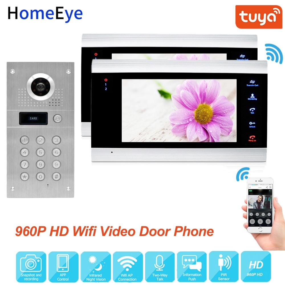 Tuya Smart App Remote Control WiFi IP Video Door Phone Video Intercom Access Control System Motion Detection Code Keypad RFID1-2