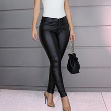 High Waist Black Pencil Pants Slim Casual Day Work