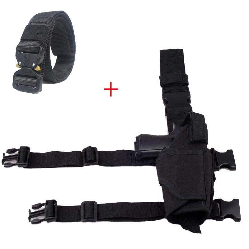 Tactical Leg Holster Military Shooting Airsoft Pistol Gun Carry Nylon Pouch Belt Holster For All Size Gun Hunting Accessories