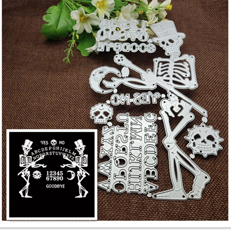 Metal Cutting <font><b>Dies</b></font> skull figure Christmas <font><b>Halloween</b></font> 26 alphanumeric photo Craft <font><b>Stamps</b></font> <font><b>die</b></font> Cut Embossing Card Make Stencil image