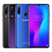 Doogee N20 Del Telefono Mobile 6.3 4 GB + 64GB Octa Core 4G Smartphone Waterdrop Schermo 16MP Triple telecamere posteriore 4350mAh 10w Carica