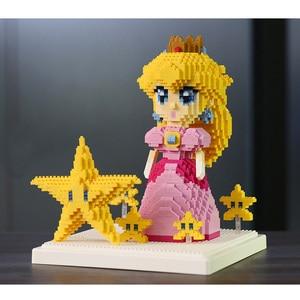 Image 3 - Weagleスーパーマリオピーチ姫クッパgoundhogムササビマリオ3Dモデルダイヤモンドミニビルディング小さなブロック玩具なしボックス