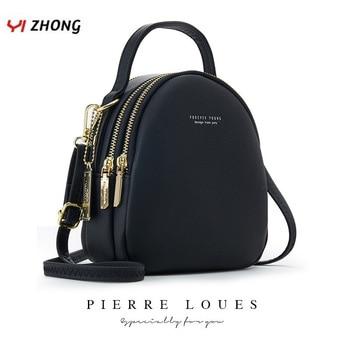 YIZHONG Mini bolso de cuero de la Mochila para las mujeres de...