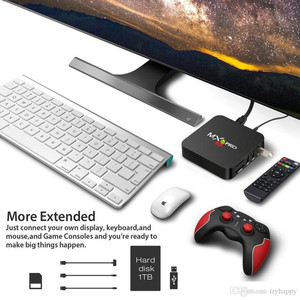 Image 4 - MX Pro 4 4K テレビボックス Amlogic S905W クアッドコア 1 グラム 8 グラムまたは 2 グラム 16 グラムアンドロイド 7.1 超 4 18K ストリーミング IPTV 4 18K ボックススマートテレビメディアプレーヤー再生