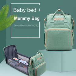 Tragbare Falten Baby Bett Multifunktionale Bett Mid-Bett Mutter Und Baby Tasche Tragbaren Große Kapazität Rucksack # YL5