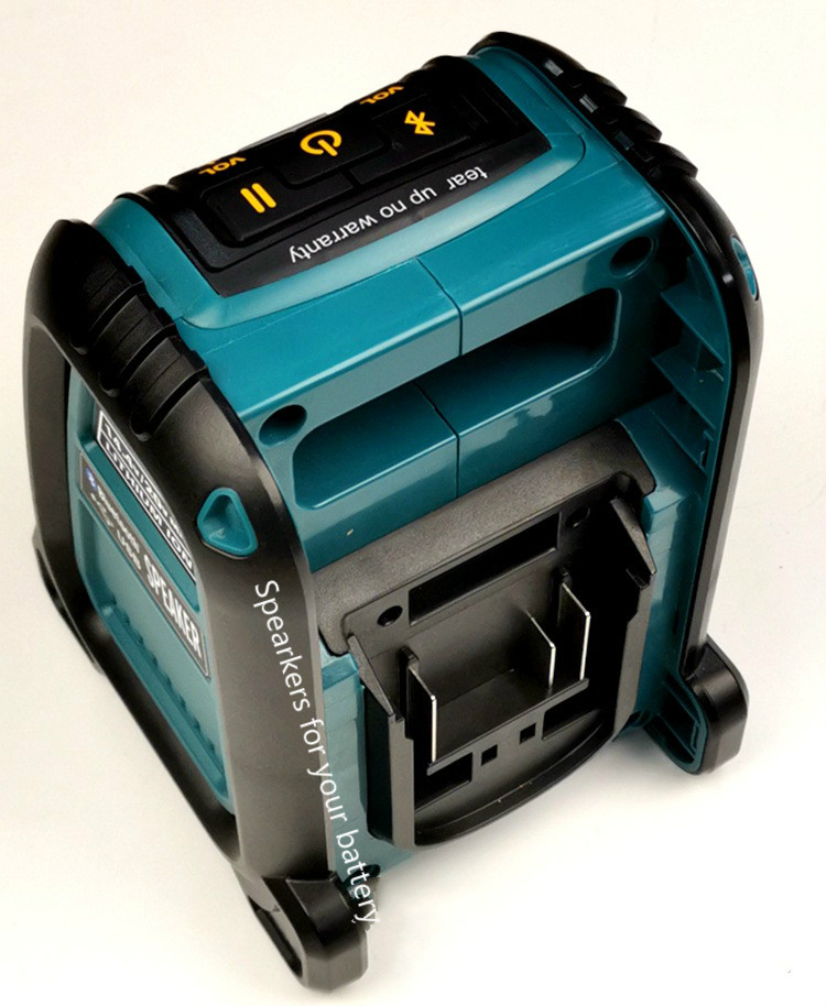 For Dewalt Makita Milwaukee Bosch Bluetooth USB Speaker Compatible With 14.4/18V Lithium Battery