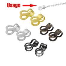 100 sztuk/partia żelaza podwójny pierścień koralik klamra łańcuch Ball Chain złącza Handmade bransoletka DIY tworzenia biżuterii 8/10/13/18/23/28mm