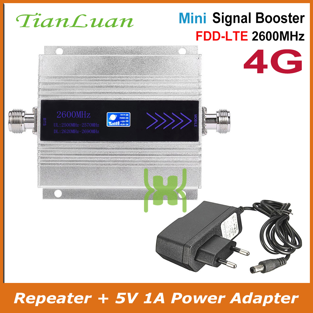 TianLuan LTE 4G 2600MHz Mobile Phone Signal Booster IMT-E 4G 2600 MHz Signal Repeater Cell Phone Amplifier With Power Adapter