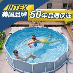 INTEX Kids Inflatable Pool High Quality Children's Home Use Paddling Pool Large Size Inflatable Square Swimming Pool For Baby