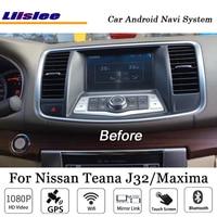 Liislee 10.4 Inch Android Car Multimedia For Nissan Teana J32 Maxima 2008~2013 Radio Stereo BT FM GPS Map Navi Navigation System