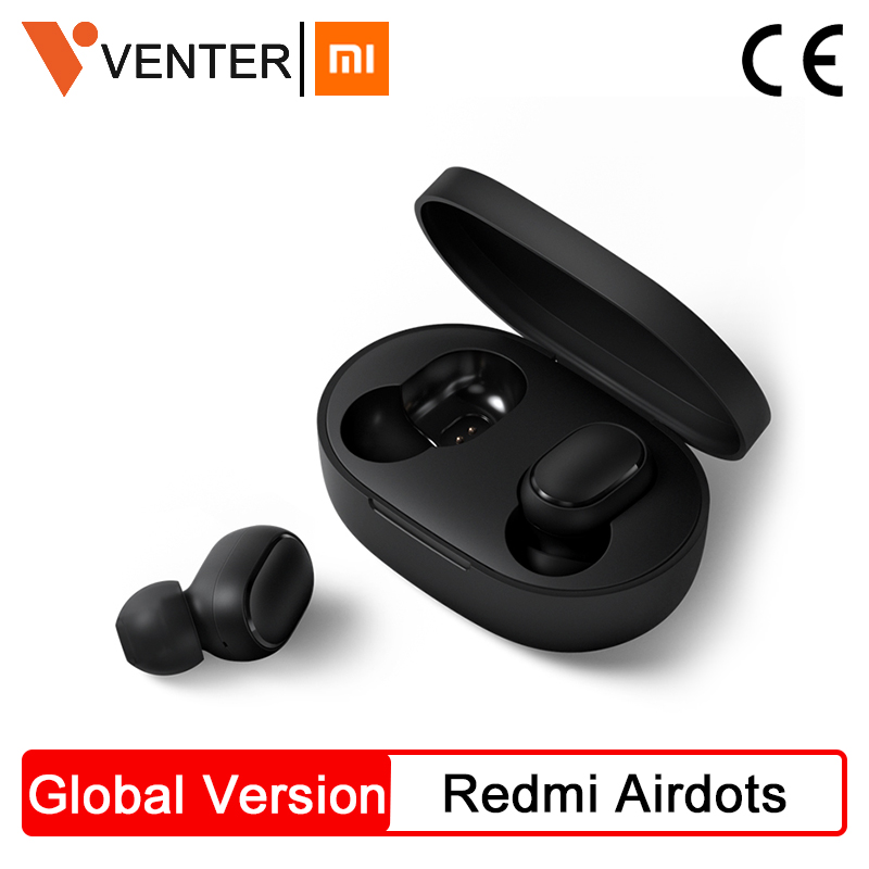 In Stock Xiaomi Redmi Airdots Earbuds TWS Wireless Bluetooth Earphone Stereo bass Bluetooth 5.0 With Mic Handsfree AI Control|Phone Earphones & Headphones| |  - AliExpress