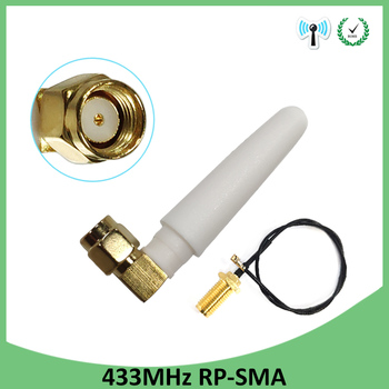 2pcs 433Mhz Antenna 2dbi GSM 433 mhz RP-SMA Connector Rubber Lorawan antenna+ IPX to SMA Male Extension Cord Pigtail Cable 2pcs 433mhz antenna 5dbi gsm 433 mhz rp sma connector rubber lorawan antenna ipx to sma male extension cord pigtail cable