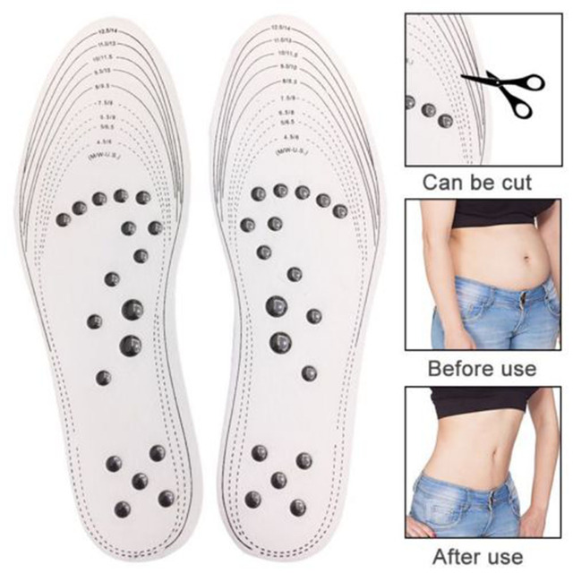 2019 Hot  New Unisex Feet Massage Insoles Magnetic Weight Loss Acupressure Slimming Insoles  Foot Care Shoe Gel Inserts  Insoles