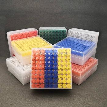 1 zestaw zawiera jednoczęściowy 81-kratowy kod cyfrowy schowek do przechowywania cryobial + 81 sztuk 1 8ml plastikowej rurki chłodniczej tanie i dobre opinie CN (pochodzenie) Probówek Z tworzywa sztucznego