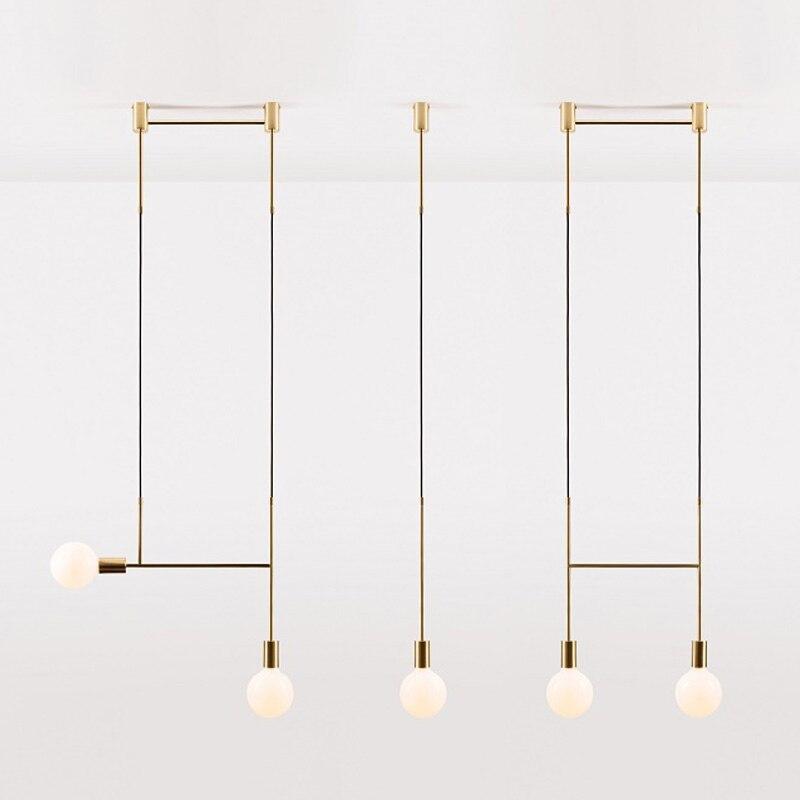 Moderne Led Metalen Hanglampen Smeedijzeren Glazen Ronde Bal Messing Staaf Opknoping Lamp Voor Living Roomcafekitchen Nordic Verlichting-in Hanglampen van Licht & verlichting op title=