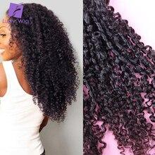 Tight Afro Kinky Curly Hair Bundles 3pcs/lot Mongolian Remy