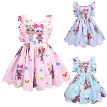 LOL Surprise Dolls Original Kids Dresses for Girls Clothing Set Children's Skirt New Pleated Princess Dress Gifts