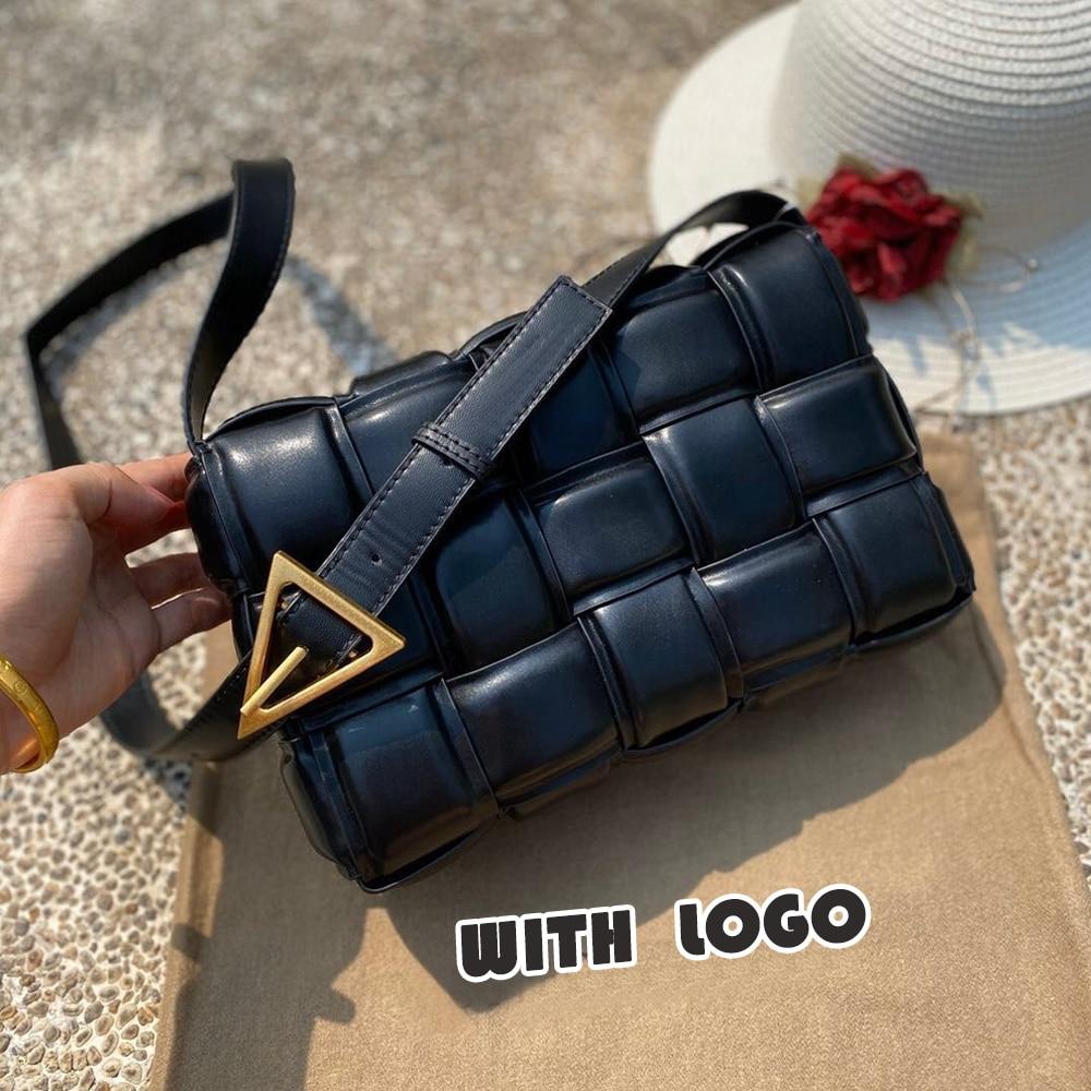 Knit Real Genuine Leather Shoulder Bag Bags For Women 2020 Luxury Handbags Women Bags Designer Women Messenger Bag Cowhide