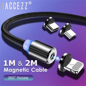 ! ACCEZZ микро Магнитный зарядный кабель для iPhone 6 7X11 Pro Max samsung S9 type C кабель для освещения телефона 1 м 2 м USB C кабель Шнур