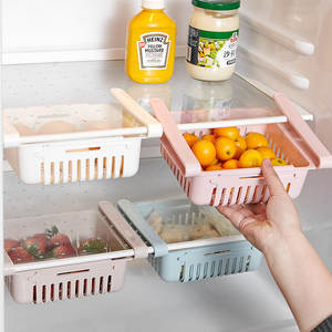 Storage-Rack Refrigerator-Organizer Drawer-Basket Adjustable Pull-Out Fresh Layer Spacer