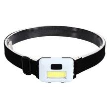 LED Headlamp 3 Colors COB Super Bright Headlight Outdoors Waterproof Use 3*AAA Battery Camping Fishing Hiking Light Flashlight