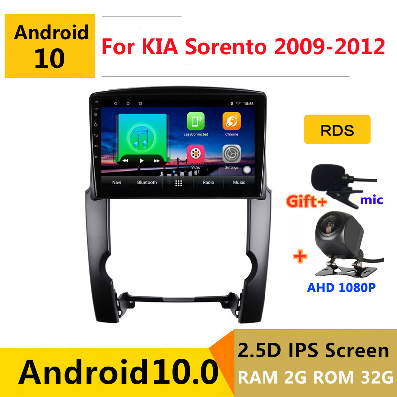 10 inch Android 10 Car DVD Multimedia Player GPS For kia sorento BL 2009 2010 2011 2012 audio auto radio stereo navigation image
